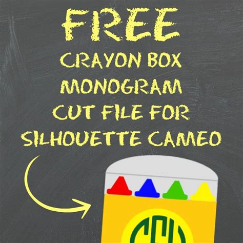 With this download you get 9 free mandala svg files in eps, png, svg & dxf format. Free Monogram Crayon Box Cut File for Silhouette Cameo ...