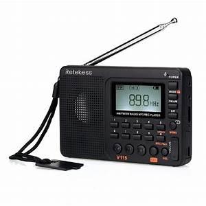 Retekess V115 Portable Am Fm Radio With Shortwave Mp3