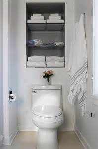 recessed shelves toilet transitional bathroom
