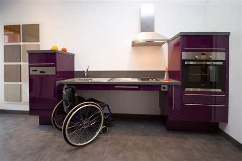 plan de travail handicapé exemples de réalisations en photo