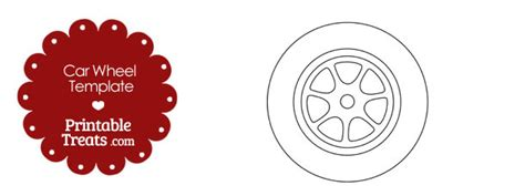 tire stenciel template printable car wheel template printable treats