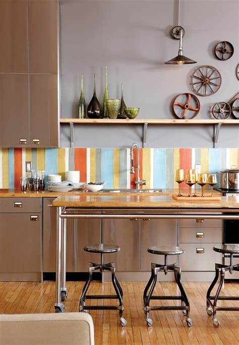 Colorful Kitchen Backsplash Pictures Decozilla