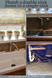 New Single Basin Sink Install  Downsizing Double Sink