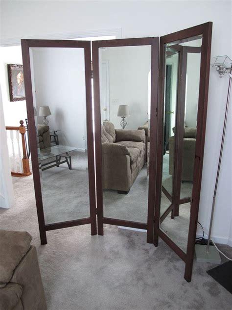floor mirror toronto trifold mirror floorstanding tri fold large 3 panel ebay
