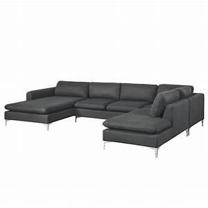 canape d39angle cleveland en u gris testez nos canapes d With tapis exterieur avec canapé d angle tissu 6 places