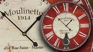 Horloge Murale Moulinette 58 Cm