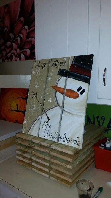 snowman pallets christmas christmas crafts christmas