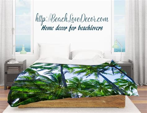 duvet cover  hawaiian palm trees beachlovedecorcom