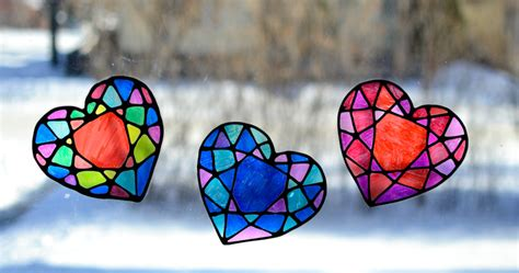 stained glass heart suncatcher adventure   box
