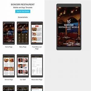 Bonosri Restaurant Mobile App HTML Template Gastronomy
