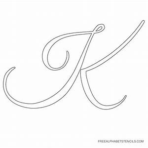 K in fancy cursive wwwimgkidcom the image kid has it for Large cursive letter stencils