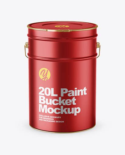 Hey there lovely readers & fans! 20L Metallic Paint Bucket Mockup - 20L Matte Paint Bucket ...