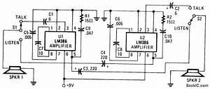 Intercom - Basic Circuit - Circuit Diagram
