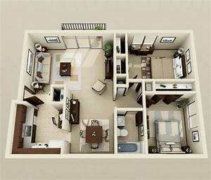 52, Creative, Two, Bedroom, Apartment, Plans, Ideas