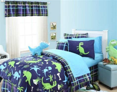 Dinosaurs Twin Comforter, Sham & Toss Pillow (3 Piece