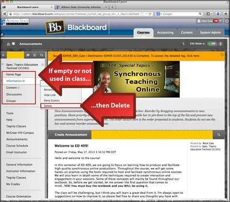 blackboard help desk blackboard learn updating course menu transferring