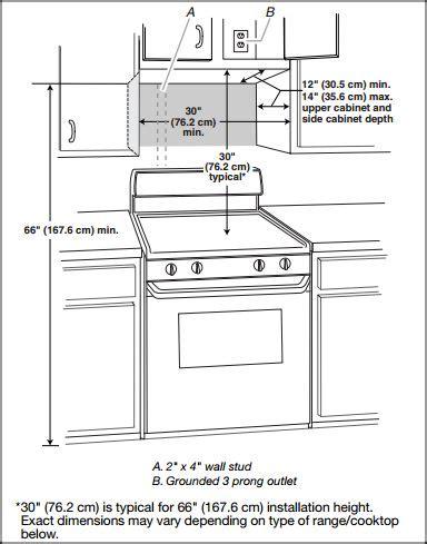 kitchen cabinet heights installation best 25 range microwave ideas on 5476