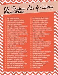 52 Random Acts of Kindness via Positively Smitten ...