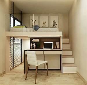 Schwebebett Selber Bauen : semi loft bed bedroom pinterest hochbetten hochbett selber bauen und hohen decken ~ Indierocktalk.com Haus und Dekorationen