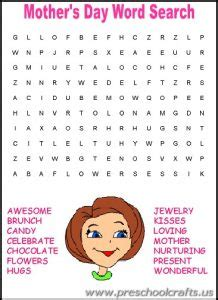 printable mothers day worksheets  kids