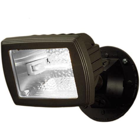 shop utilitech    head halogen bronze switch controlled flood light  lowescom