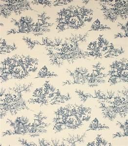 Toile De Jouy : toile de jouy fabric blue just fabrics ~ Teatrodelosmanantiales.com Idées de Décoration