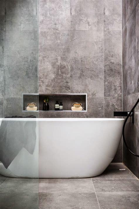 grey ikea concrete effect bathroom tiles norse white design