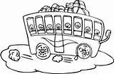 Trip Coloring Field Bus Pages Packed Printable Clipart Trips Template Play sketch template