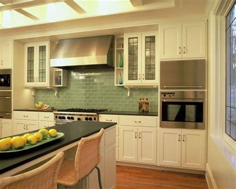 kitchen color schemes with wood cabinets kitchens with color green tiletr