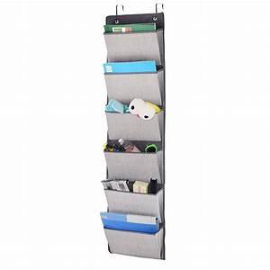 Wall mount 6 trays hanging file sorter organizer folder for Hanging document organizer