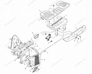 Polaris Atv 2002 Oem Parts Diagram For Front Rack  U0026 Bumper