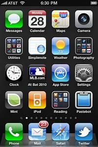 Iphone 4 Default Home Screen