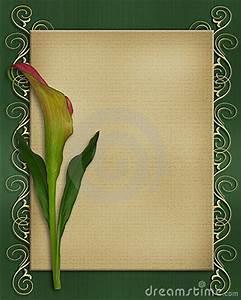 Pink Invitation Calla Lily Invitation Card Template Stock Photography