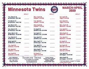 Free Printable Calendar October 2020 Printable 2020 Minnesota Twins Schedule
