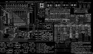 Diagram Blueprint Bw Russian Schematic Wallpapers Desktop Background