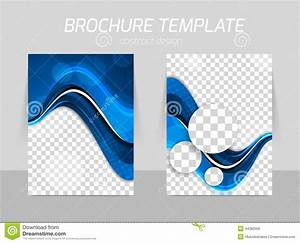 Flyer Template Back And Front Design Stock Vector Image