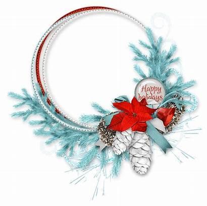 Christmas Eve Winter Ornament Season Cluster Frame
