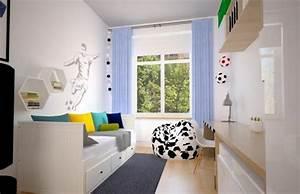 Fussball Deko Kinderzimmer : kleines kinderzimmer einrichten ideen junge fussball fan ~ Watch28wear.com Haus und Dekorationen