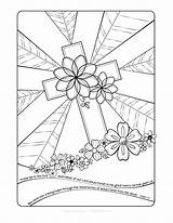 Coloring Easter Cross Adult Pages Crosses Adults Christian Bible Colouring Printables Sunday Colored Study Activity Faith Books sketch template