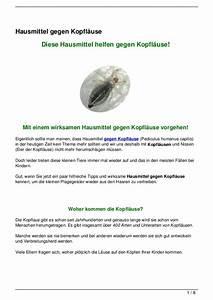 Hausmittel Gegen Kellerasseln : hausmittel gegen kopfl use ~ Lizthompson.info Haus und Dekorationen