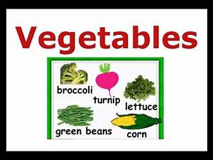 Vegetables Names Vocabulary-English for kids, ESL Kids ...