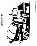 Cement Mixer Coloring Truck Colouring Trucks Clipart Cliparts Clip Printactivities Dump Graphics Semi Library Popular Terrific Coloringhome sketch template