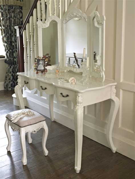 shabby chic dressing tables uk large ivory cream dressing table and mirror shabby french vintage chic ebay
