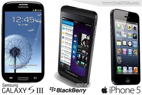 top bests 5 phone samsung gs3 blackberry z10 iphone 5 review