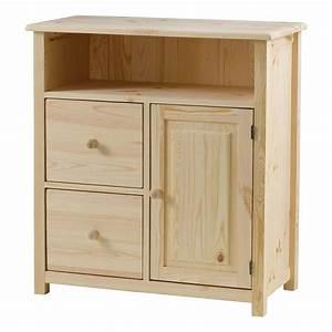 meuble de rangement pin massif brut 2 tiroirs achat With peindre des meubles en pin