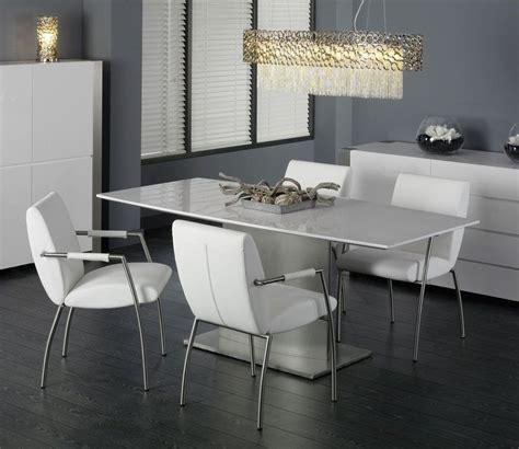 table de salle a manger laque blanc table a manger blanc laque