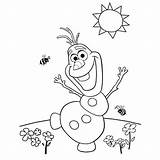 Frozen Coloring Toddlers Drawing sketch template