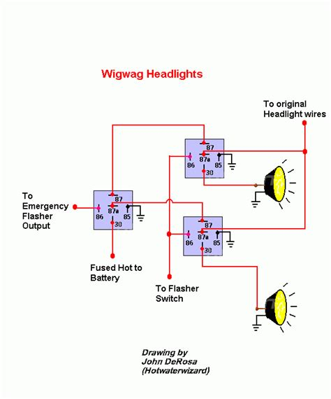 Wig Wag Flasher Relay Wiring Diagram by Relay Diagram To Make Headlights Blink