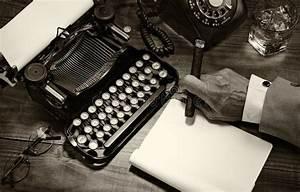 Vintage Writer Closeup stock image. Image of typewriter ...