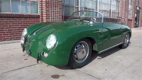 Beyond the lizard green paint, the sports car is sitting on the second green porsche 911 you see is painted viper green and is a used 2018 911 turbo s coupe. 1958 Porsche Speedster Intermeccanica Replica for sale, RARE Irish Green with leather interior ...